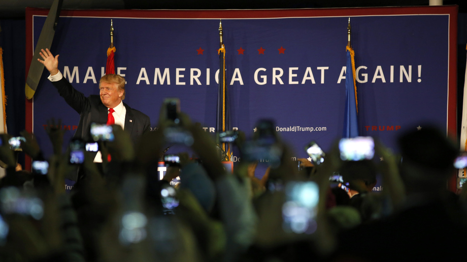 After issuing a statement calling for a ban on Muslim immigrants, Donald Trump holds a rally in Mt. Pleasant, S.C., on Monday. (Mic Smith/AP)