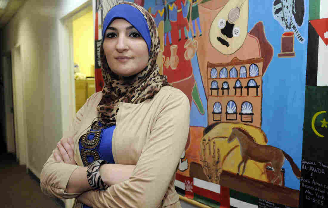 """That this is only directed at the Muslim community is something that I personally can't accept,"" activist Linda Sarsour said of President Obama's challenge to American Muslims. She's pictured here in 2011 at the Arab American Association of New York."