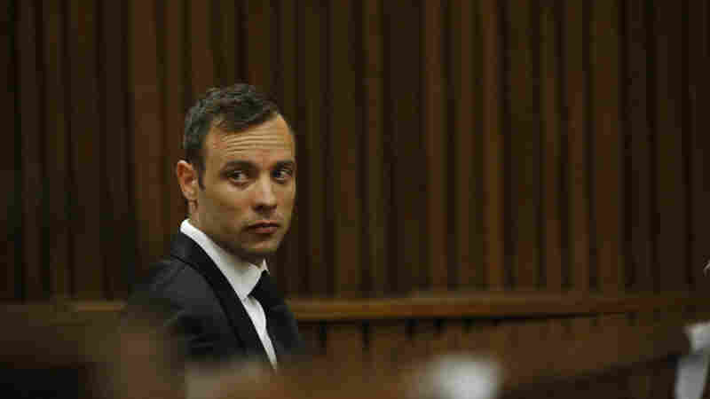 Oscar Pistorius sits in the dock at a courtroom of the North Gauteng High Court in Pretoria, South Africa, on Tuesday.