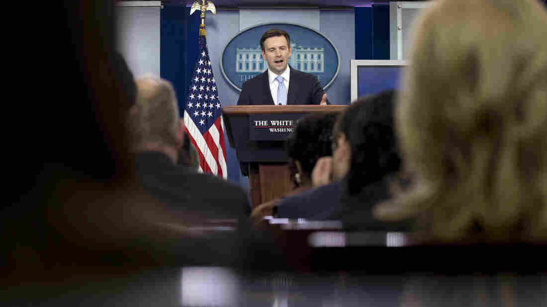 """""""The Trump campaign, for months now, has had a dustbin-of-history-like quality to it, from the vacuous sloganeering to the outright lies to even the fake hair, the whole carnival-barker routine that we've seen for some time now,"""" White House Press Secretary Josh Earnest said on Tuesday."""