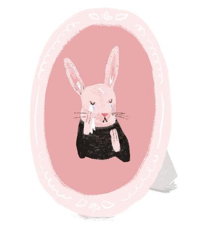A sad rabbit