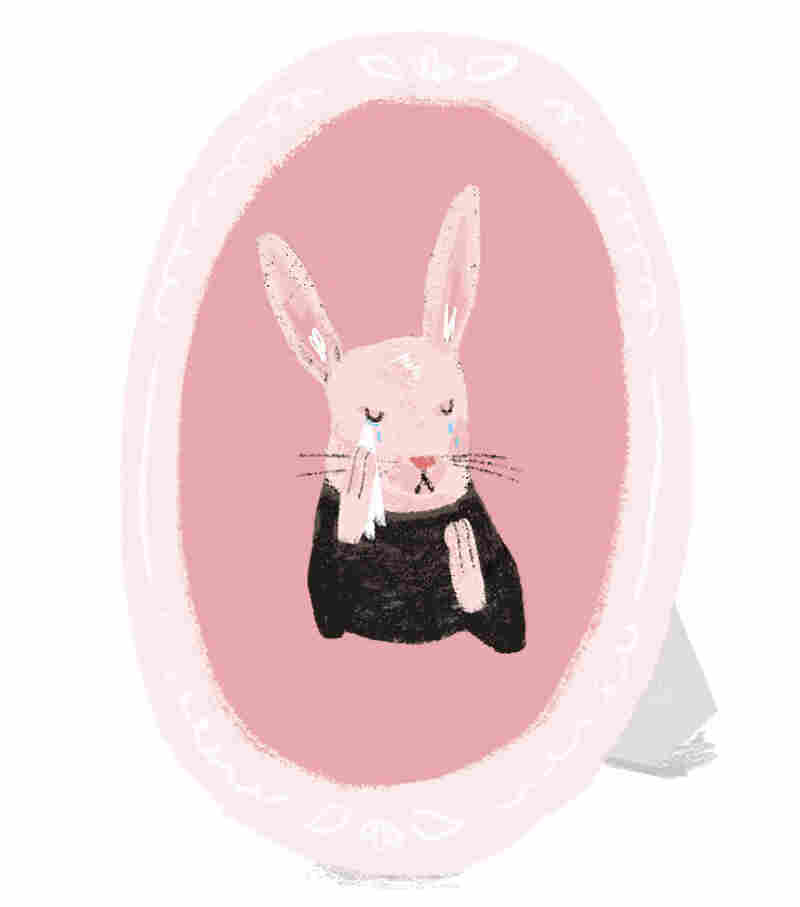A sad rabbit