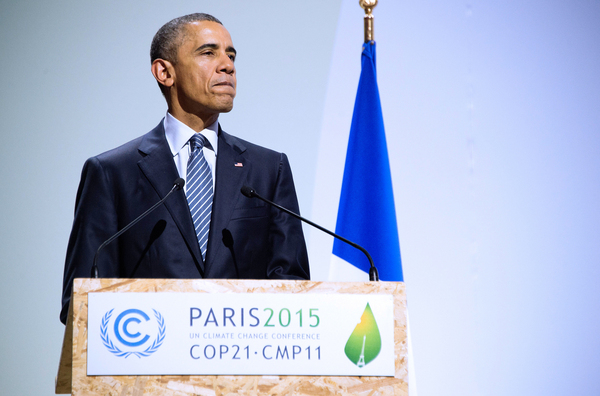 President Obama addresses the opening ceremony of the World Climate Change Conference 2015 (COP21) on Nov. 30.