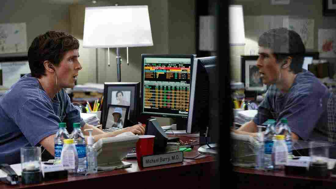 Christian Bale as Michael Burry in a scene from The Big Short.