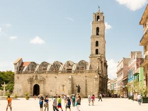 The Basílica Menor de San Francisco de Asís in Havana.