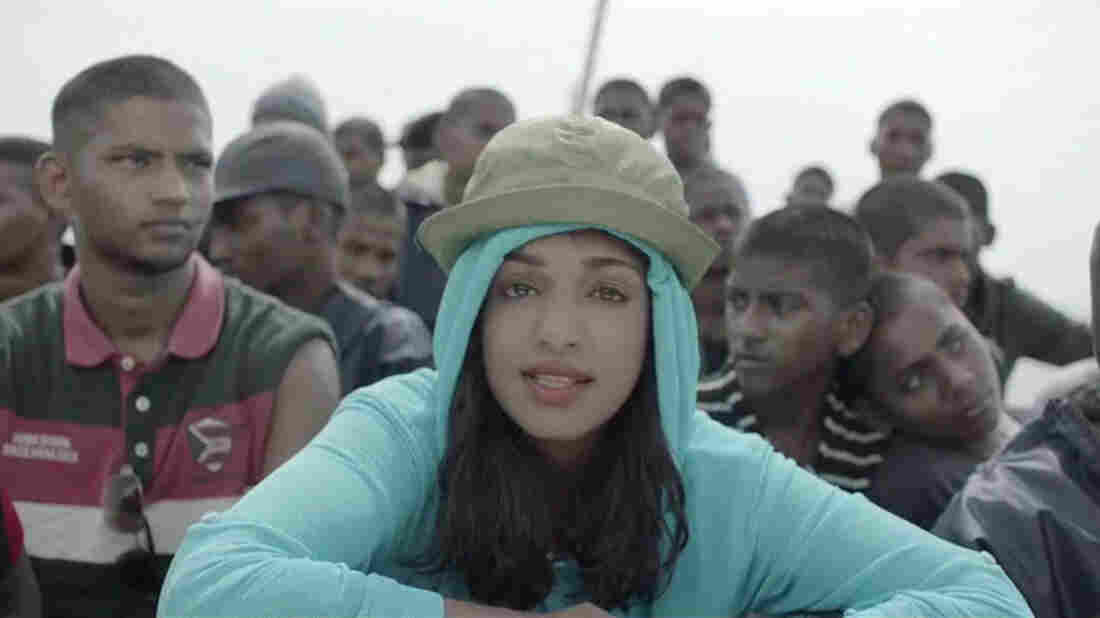 "M.I.A. in the ""Borders"" video."