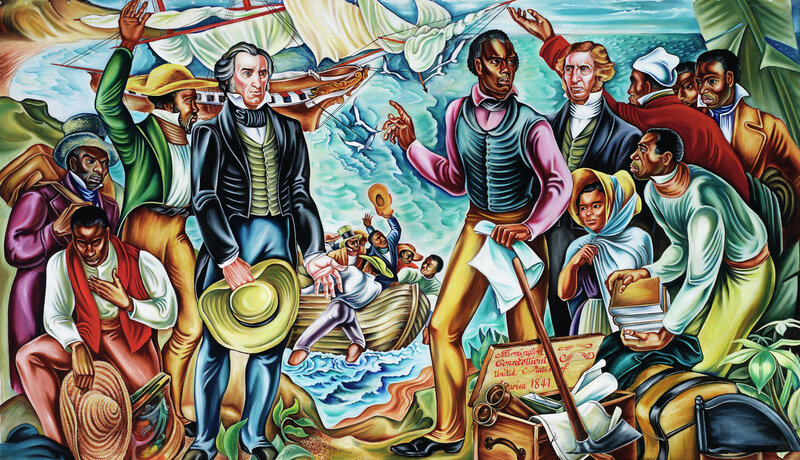 Here, Woodruff portrays the repatriation of freed slaves in Africa.