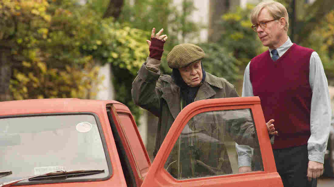 Maggie Smith plays Mary Shepherd and Alex Jennings plays writer Alan Bennett in The Lady in the Van. Bennett says people in his London neighborhood still remember Shepherd.