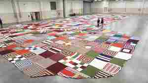 1,600-Pound Stocking Knitted With Care In Hopes A World Record Soon Would Be There