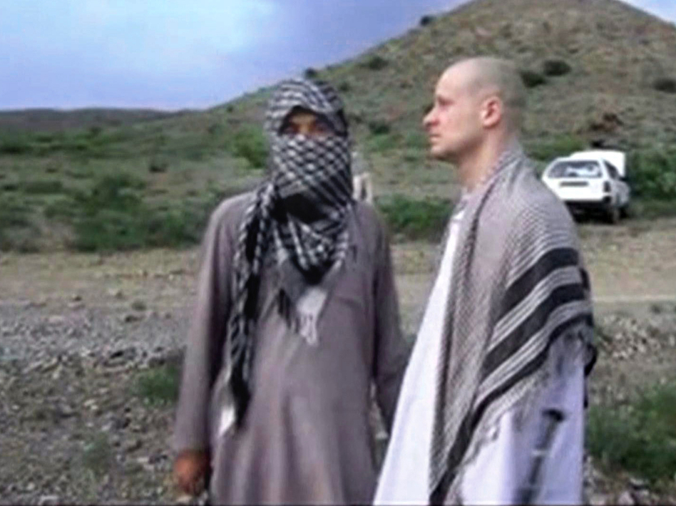 A video frame grab of Army Sgt. Bowe Bergdahl released by the Voice of Jihad website shows the soldier during his captivity. Bergdahl is the subject of the second season of <em>Serial.</em> (AP)