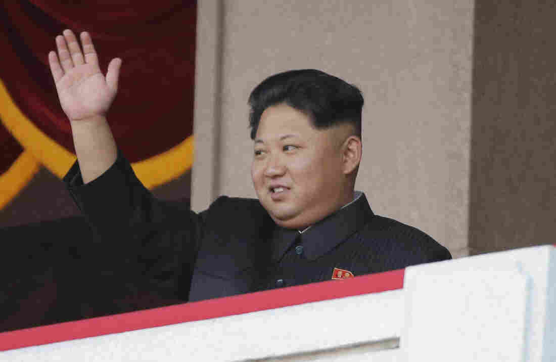 North Korean leader Kim Jong Un waves during a parade in Pyongyang, North Korea, in October.
