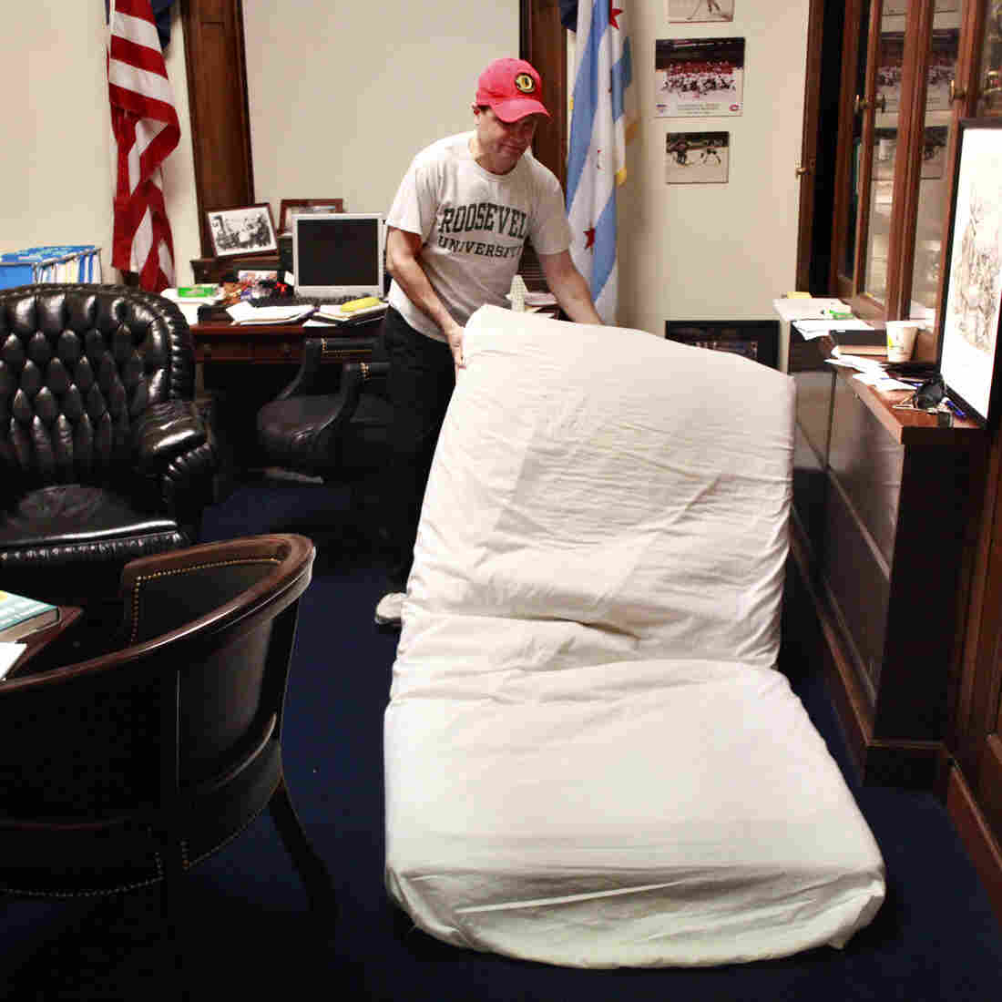 Meet The Lawmakers Who Sleep, Shower, Work — All On Capitol Hill