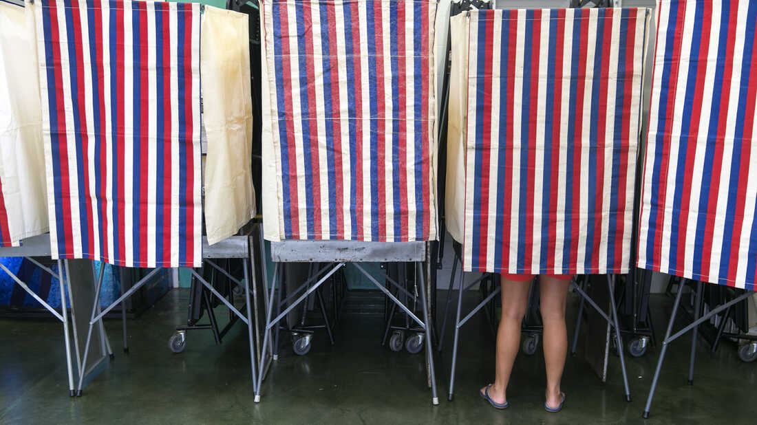 A voter on primary day in Hawaii in 2014.
