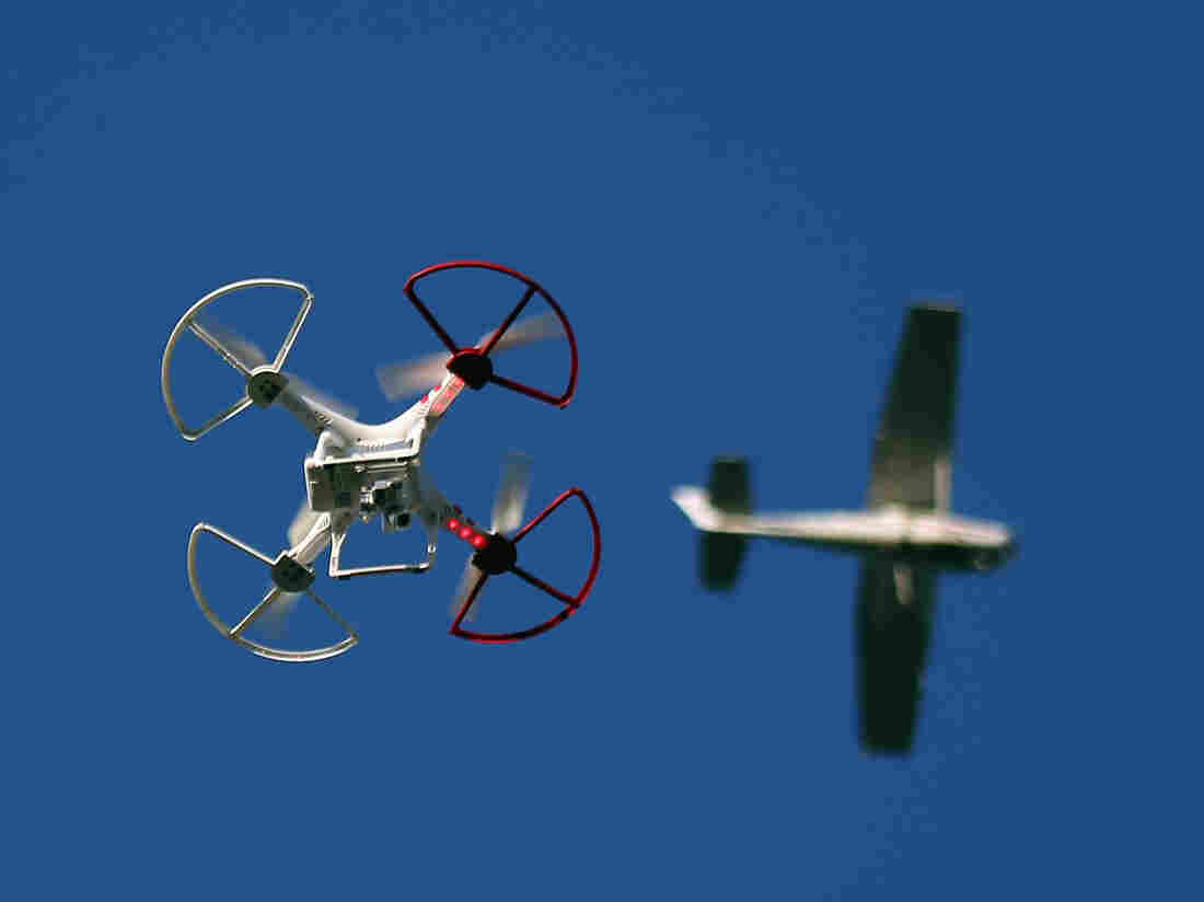 A report by the Center for the Study of the Drone found that there were 921 incidents involving drones and manned aircraft between December 2013 and September 2015.