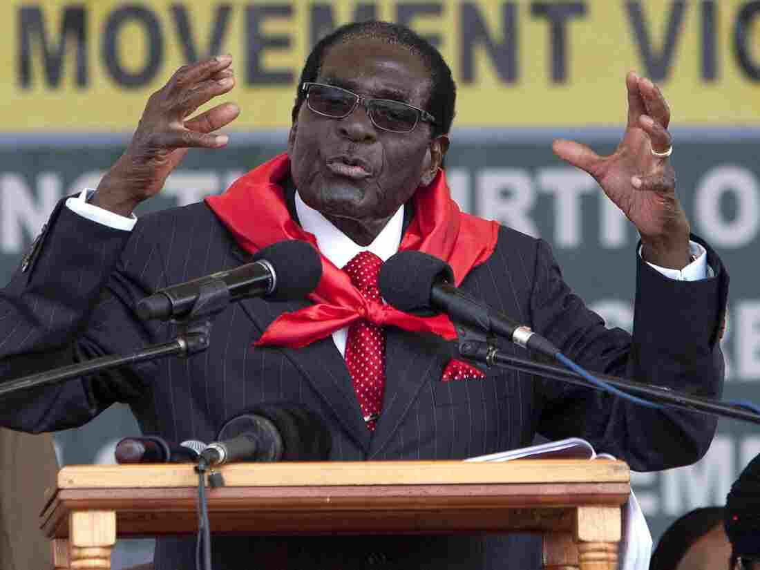 Zimbabwean President Robert Mugabe, seen here delivering a speech during his 91st birthday celebration in February, is the latest Confucius Peace Prize winner. Like his predecessors, he has shunned the award.