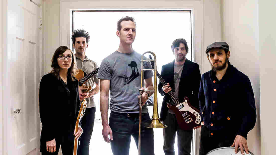 Trombonist and composer Jacob Garchik enlisted three guitarists and a drummer for his winding new concept album, Ye Olde.