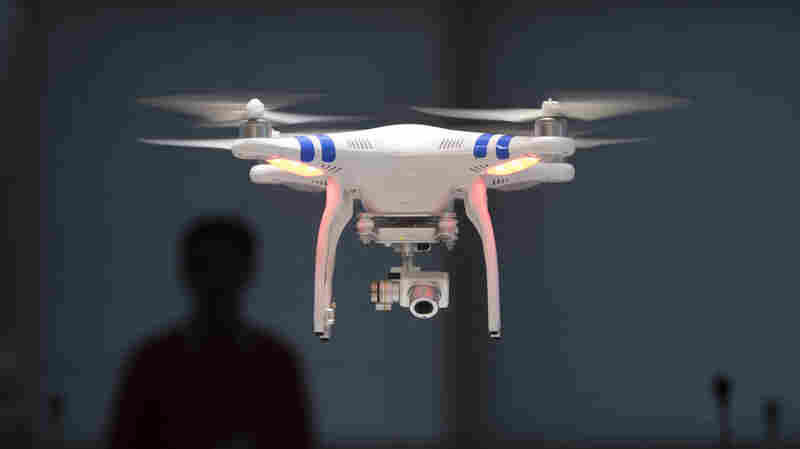 Chinese brand DJI Technology Co. has become the leading supplier in the commercial drone market. The Phantom 2 Vision+ drone pictured functions by remote control.