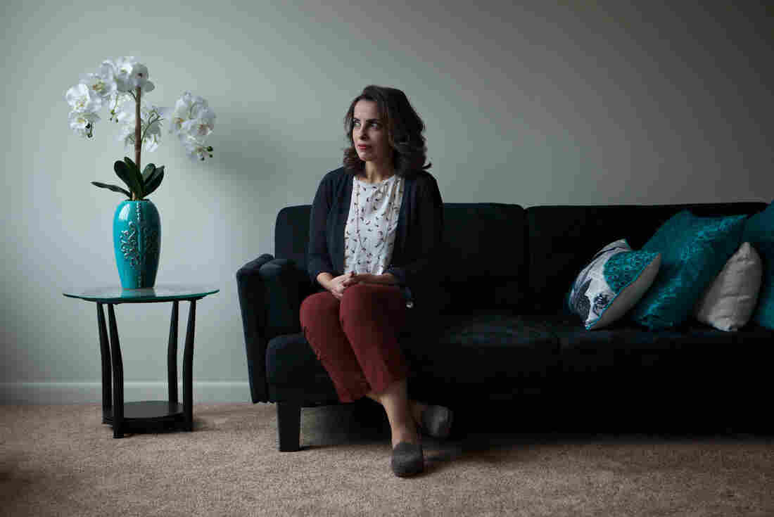 Hala al Dosari, a visiting scholar at Johns Hopkins University from Saudi Arabia, poses for a portrait Dec. 2 at her apartment in Baltimore.
