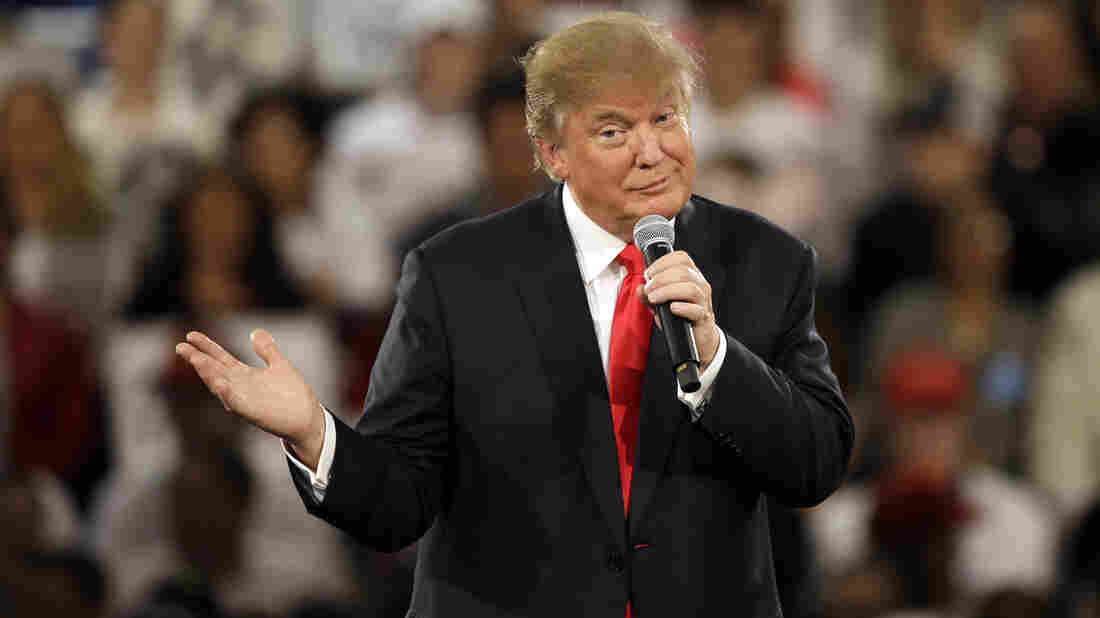 Republican presidential candidate Donald Trump speaks during a campaign rally in Des Moines, Iowa, last Friday.