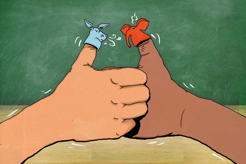 Thumb War Politics (LA Johnson/NPR)