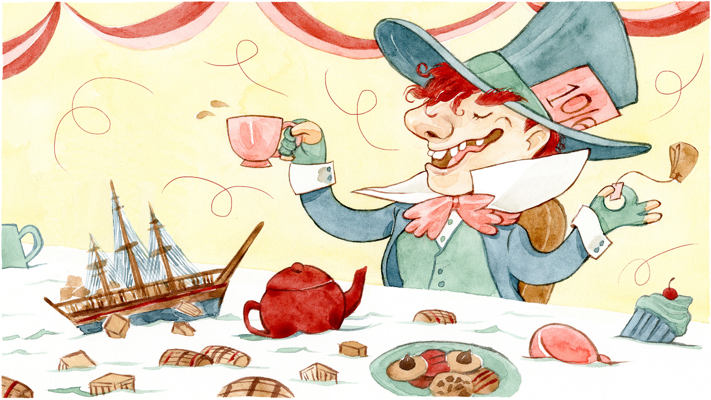 Mad Political Cartoon >> Rebel Brew: What The Boston Tea Party And The Mad Hatter Had In Common : The Salt : NPR