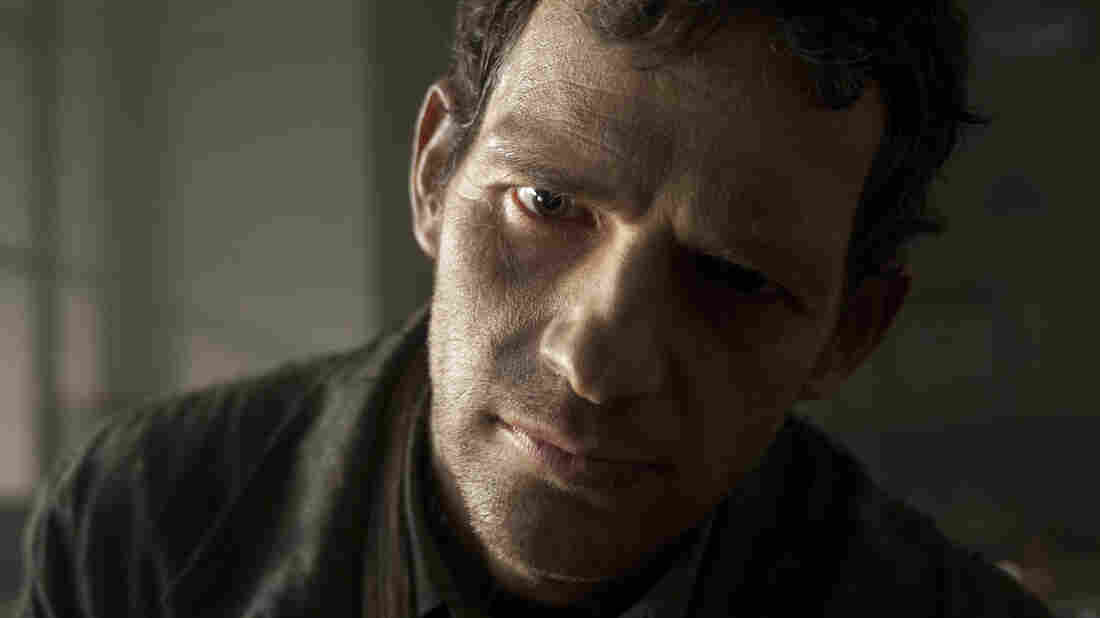 Geza Rohrig as Saul in Son of Saul.