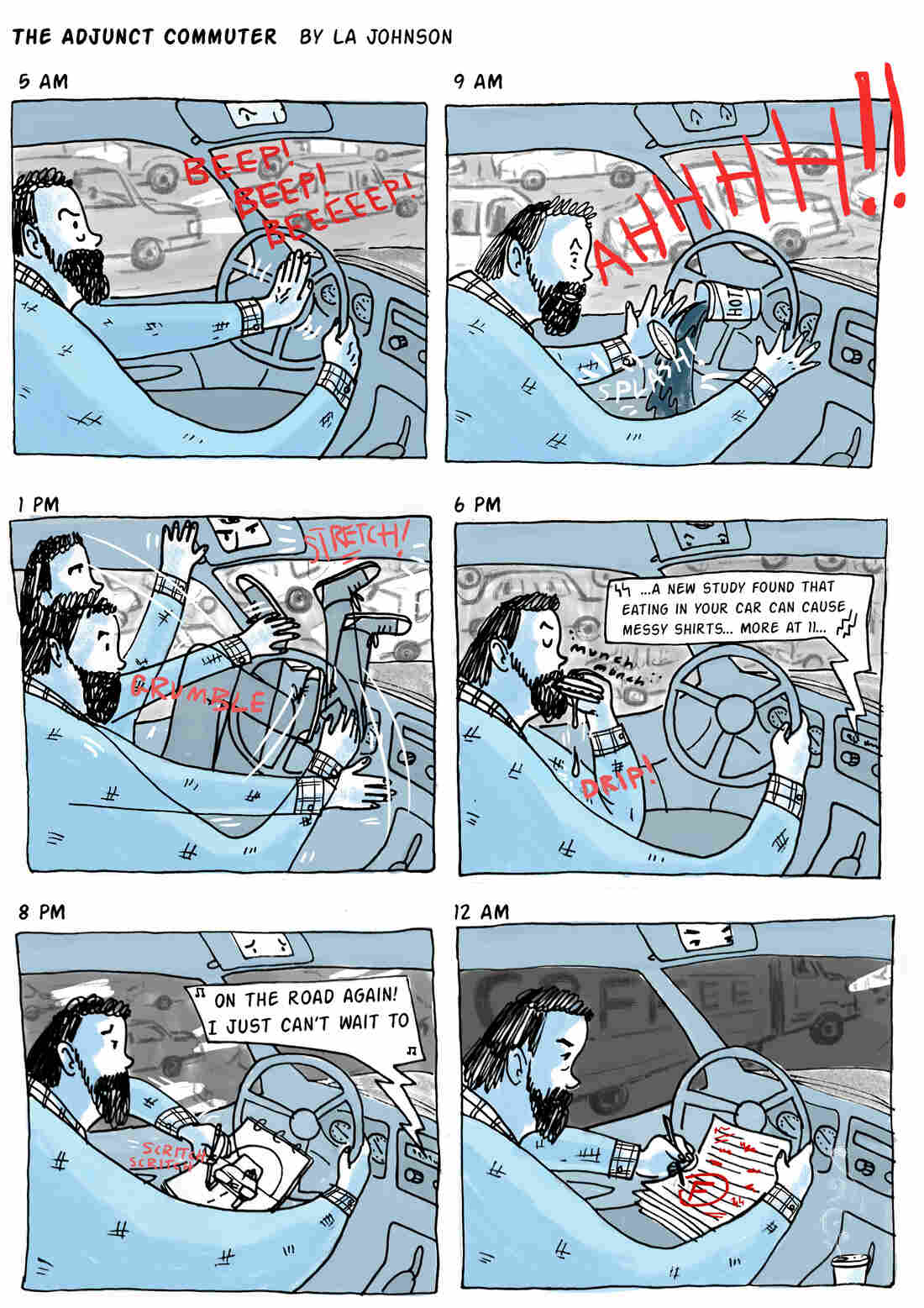 The Adjunct Commuter comic