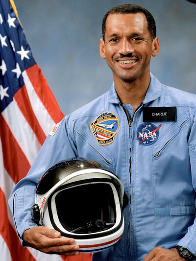 Charles Bolden, NASA's current chief administrator, before his first shuttle flight in 1986. (NASA)
