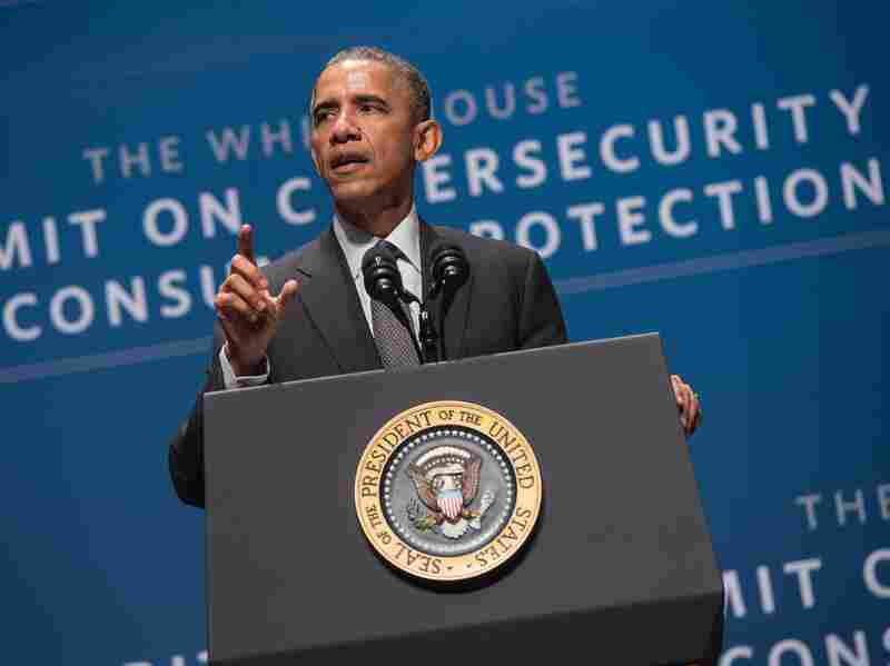 President Obama speaks at the White House Summit on Cybersecurity and Consumer Protection at Stanford University on Feb. 13.