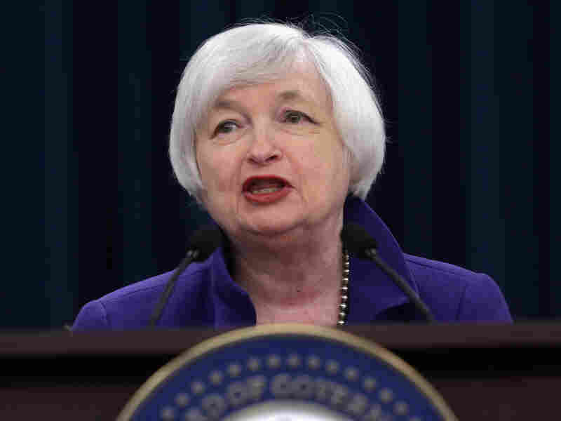 Federal Reserve Bank Chair Janet Yellen holds a news conference after the central bank announced its first rate increase in more than 9 years.