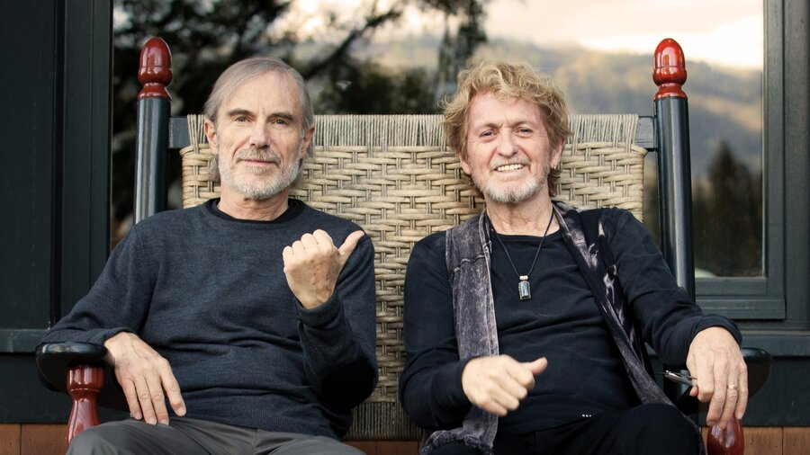Jean-Luc Ponty (left) and Jon Anderson.