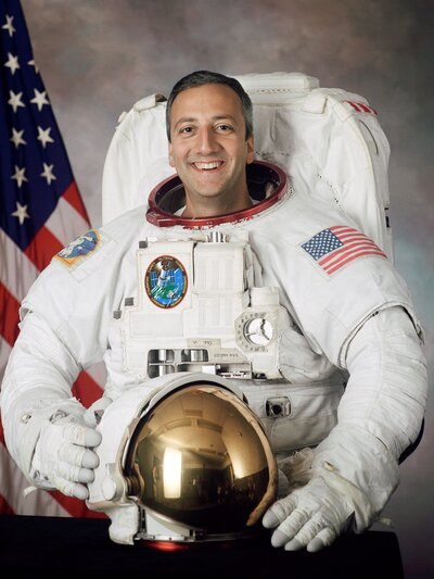 Mike Massimino, pictured here in 2002, was selected for the astronaut corps after applying four times. (NASA)