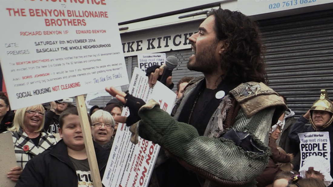 Russell Brand in a scene from The Emperor's New Clothes.