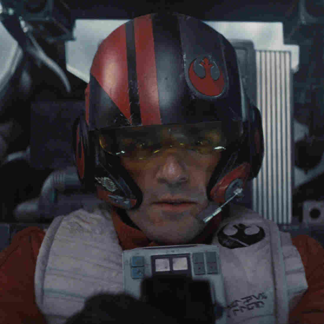 Poe Dameron (Oscar Isaac) in a scene from Star Wars: The Force Awakens.