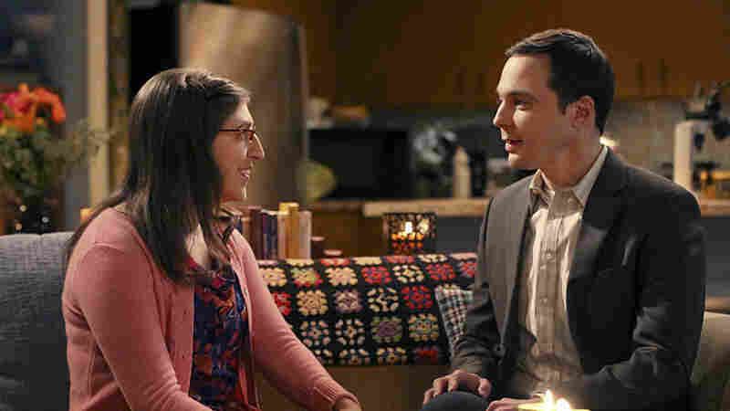 Mayim Bialik and Jim Parsons star as Amy and Sheldon on CBS's The Big Bang Theory.