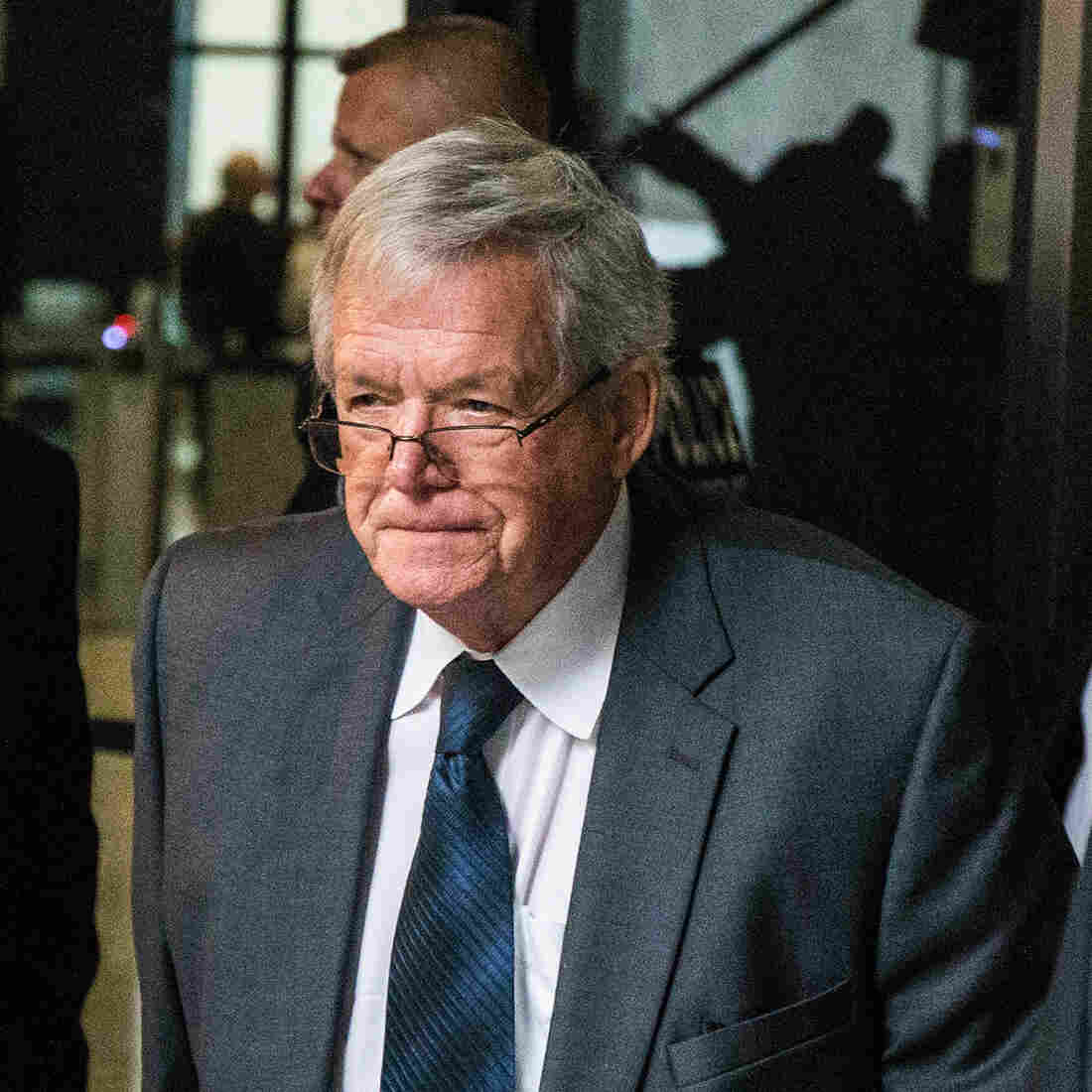 Former U.S. House Speaker Dennis Hastert leaves a federal courthouse in Chicago this fall after pleading guilty to charges related to a hush money scandal.