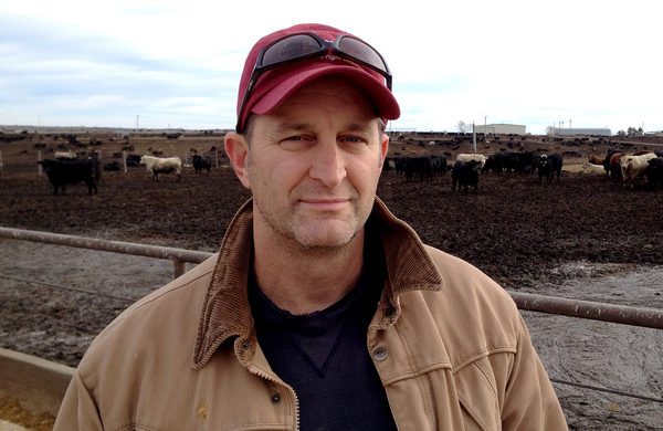 Mike Briggs operates a feedlot near Seward, Neb., that feeds around 20,000 cattle each year. He likes the idea of country-of-origin labels but doesn't think they pay off, because packing companies aren't able to earn back the cost of labeling.