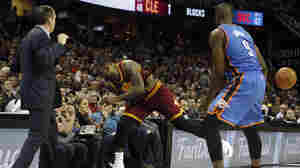 Diving For A Loose Ball, LeBron James Sends Fan To Hospital