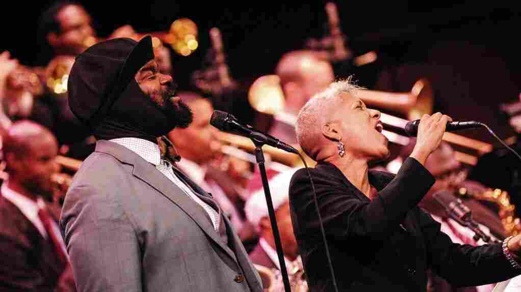 Gregory Porter and René Marie perform with the Jazz at Lincoln Center Orchestra.