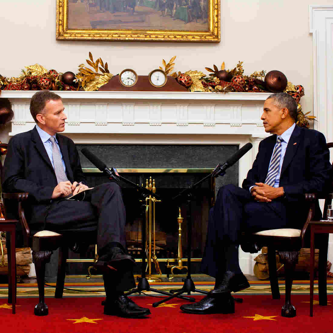 NPR's Steve Inskeep interviews President Obama at the White House.