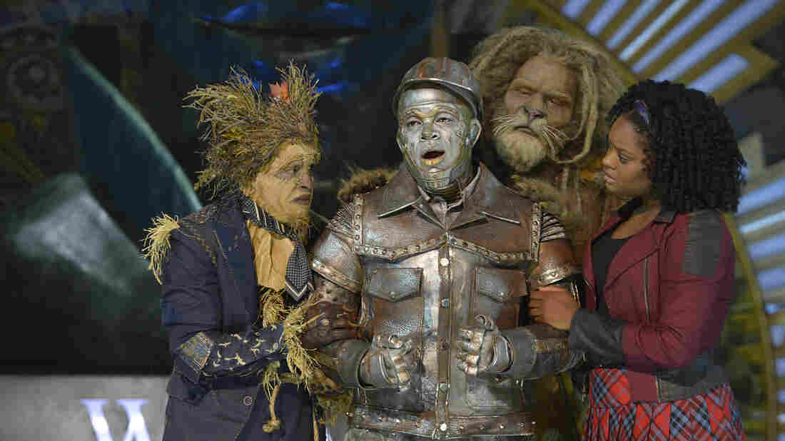 The Wiz Live! featured (from left) Elijah Kelley as Scarecrow, Ne-Yo as Tin-Man, David Alan Grier as Lion and Shanice Williams as Dorothy.