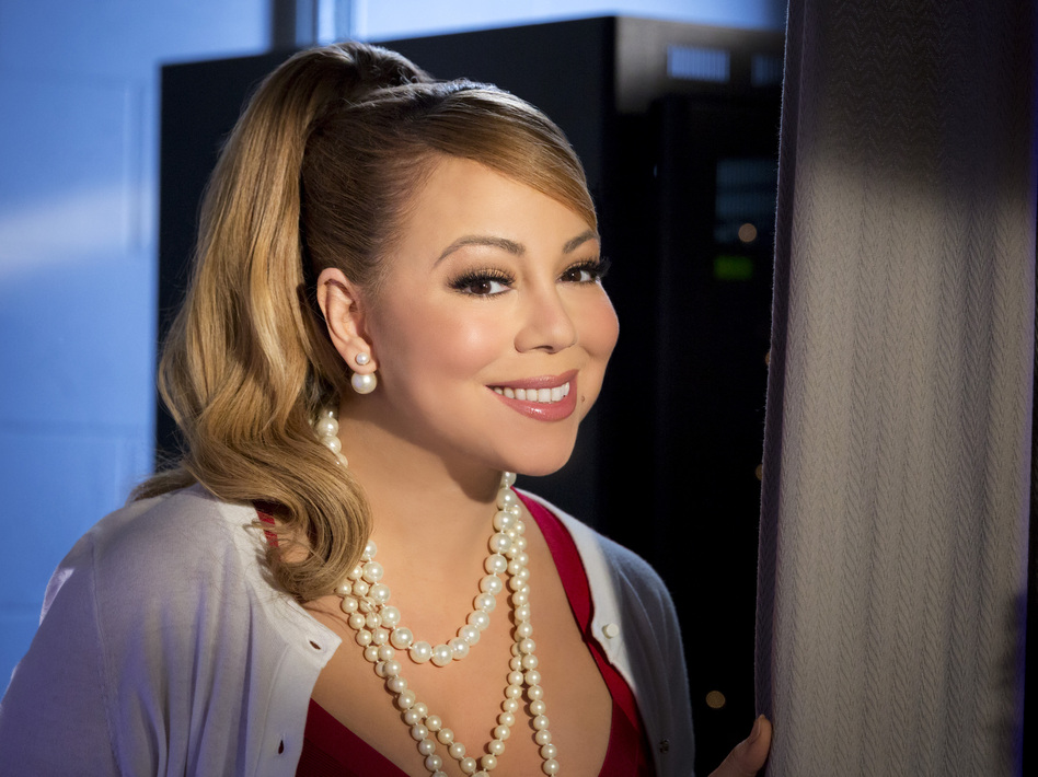 Mariah Carey appears in, directed, and provided music for Hallmark's movie <em>A Christmas Melody</em>. (Brian Douglas/Hallmark Channel)