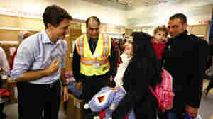 Canada's Prime Minister Justin Trudeau welcomed Syrian refugees arriving from Beirut at the Toronto airport last week.