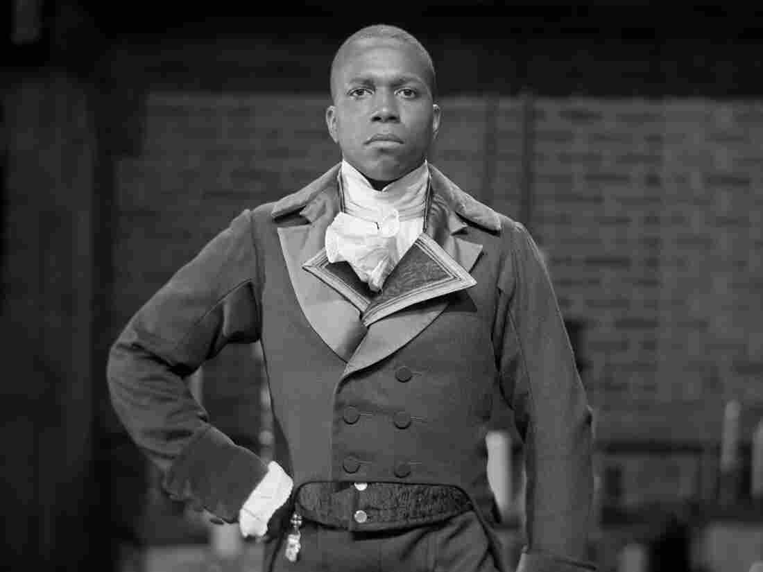 """""""In material like this, I hope that there is a danger in what we're doing. I hope we are on a razor's edge."""" Leslie Odom Jr. gets into character as Aaron Burr on the Hamilton set."""