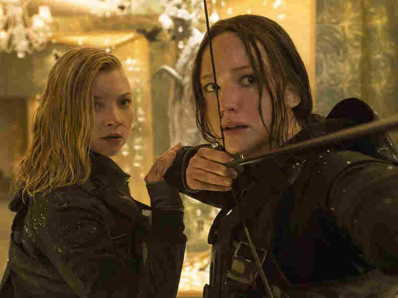 Jennifer Lawrence (shown with Natalie Dormer, left) received archery training for her role in the Hunger Games series.