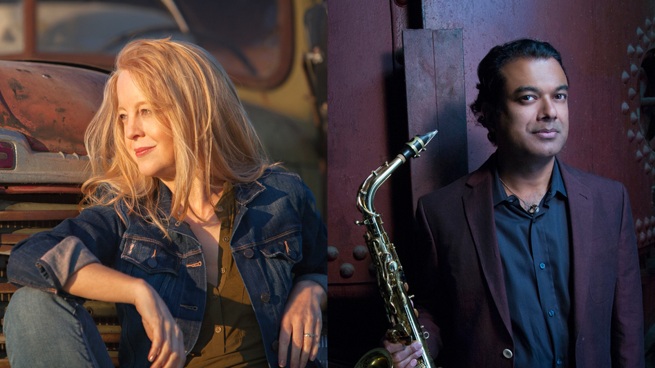 Maria Schneider and Rudresh Mahanthappa share top honors in the 2015 NPR Music Jazz Critics Poll. (Courtesy of the artists)