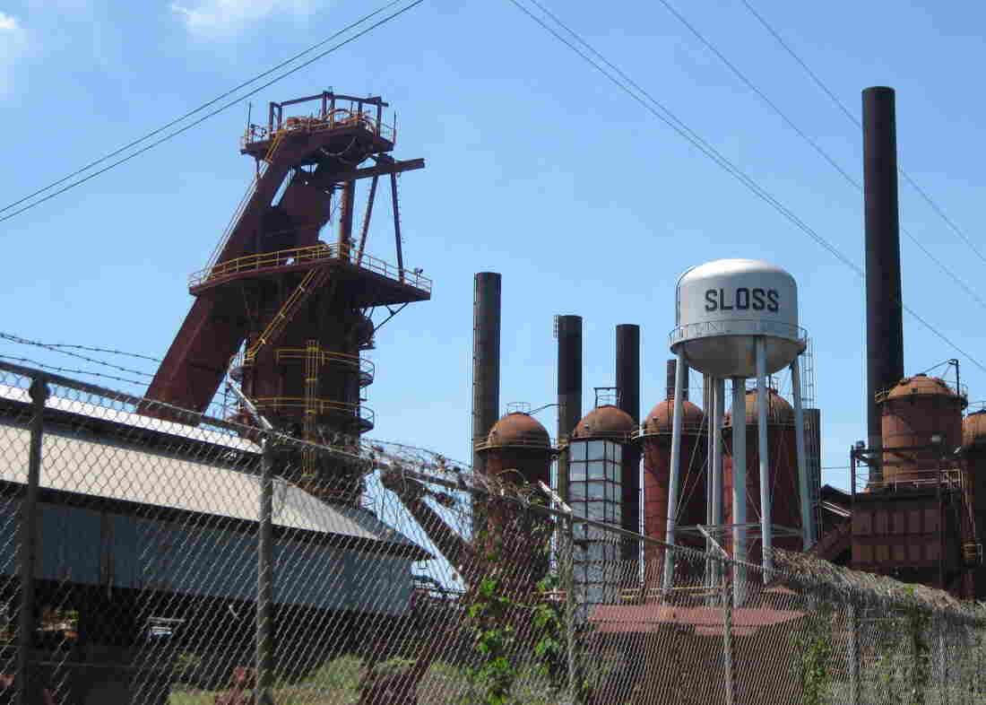 Sloss Furnace in Birmingham, Ala., produced iron for decades. The site closed in the 1970s and is now a national historic landmark.