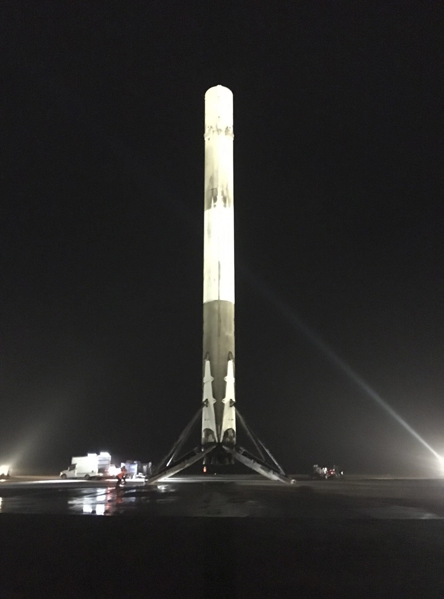SpaceX Rocket Successfully Lands After Launching Satellites
