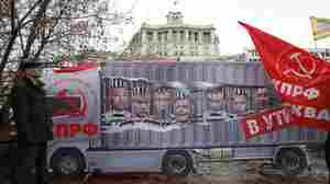 In A Rare Protest, Russian Truckers Rally Against Putin's Highway Tax