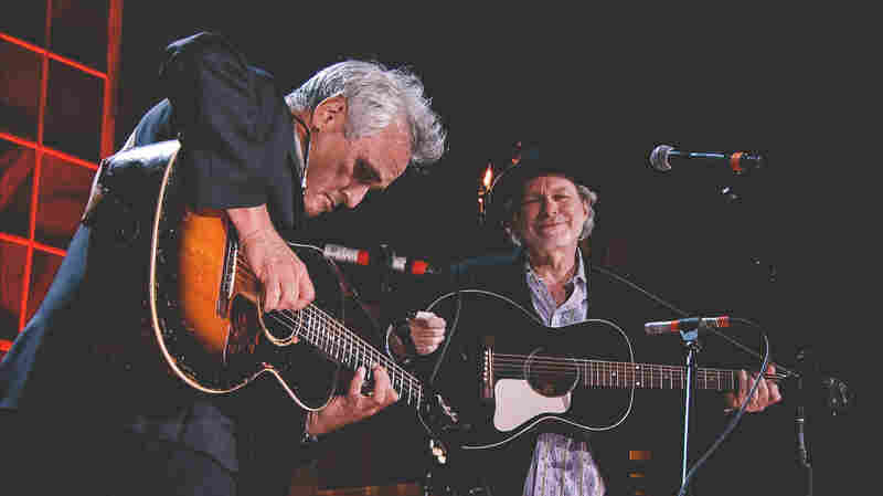 Buddy Miller and Mark Ribot perform at the 2015 Americana Music Awards.